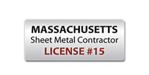 Cape Cod Aeroseal is a Massachusetts licensed sheet metal contractor.